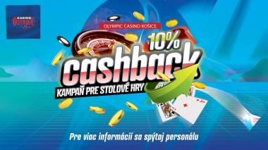 CASH BACK V OLYMPIC CASINO KOŠICE