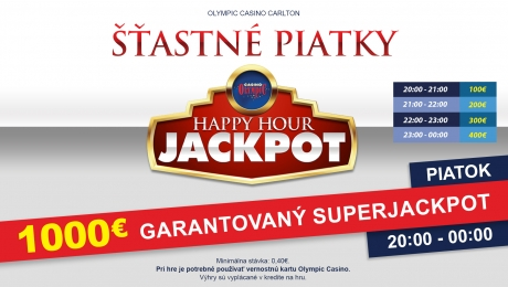 HAPPY HOUR JACKPOT V OLYMPIC CASINO BRATISLAVA, CARLTON