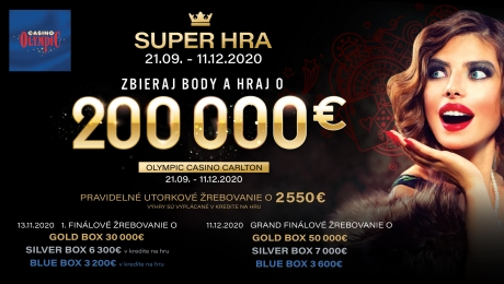 WINTER SUPER GAME AT OLYMPIC CASINO BRATISLAVA, CARLTON