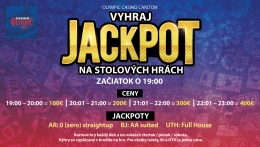 JACKPOT ON TABLE GAMES AT OLYMPIC CASINO BRATISLAVA, CARLTON